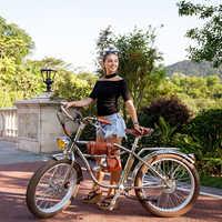 Bicicleta eléctrica de 500W para la playa, Estilo Vintage Retro, Ebike y Ebike