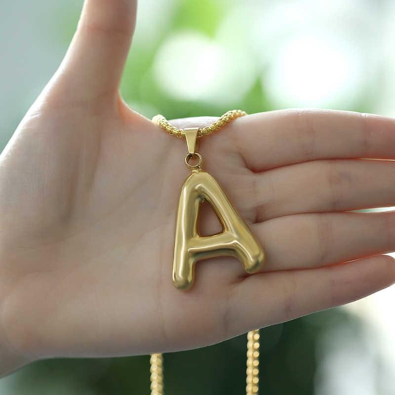 Alphabet Anhänger Halskette Für Männer Schmuck Gold Silber Farbe Große Brief Halskette Initialen Name Choker für Frauen Mädchen Geschenk BFF