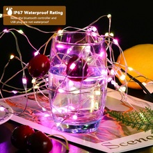 Zhongji RGB LED Light String Party Decorative LED Lights USB Fairy Lights Outdoor Christmas Wire LED Light Wedding Decoration 5M недорого