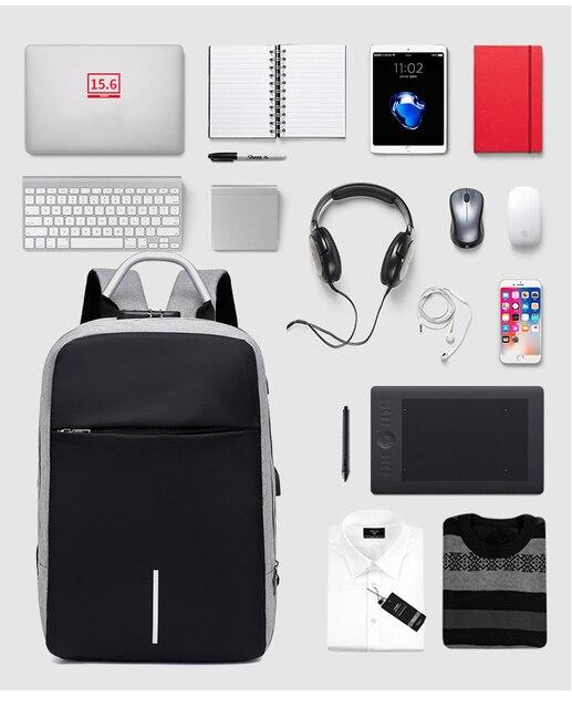 "OUBDAR Men Multifunction Anti Theft Backpack 15.6"" Inch Laptop Usb Charging Backpacks Waterproof Schoolbag Business Travel Bags 4"