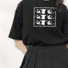 T-shirts gothiques pour femmes, Streetwear, Harajuku, surdimensionné, Punk, Grunge, à la mode