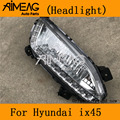 Сделано для Hyundai 13 14 15All Новый SantaFe ix45 дневной ходовой светильник оригинальный LEDrunning светильник передний противотуманный светильник