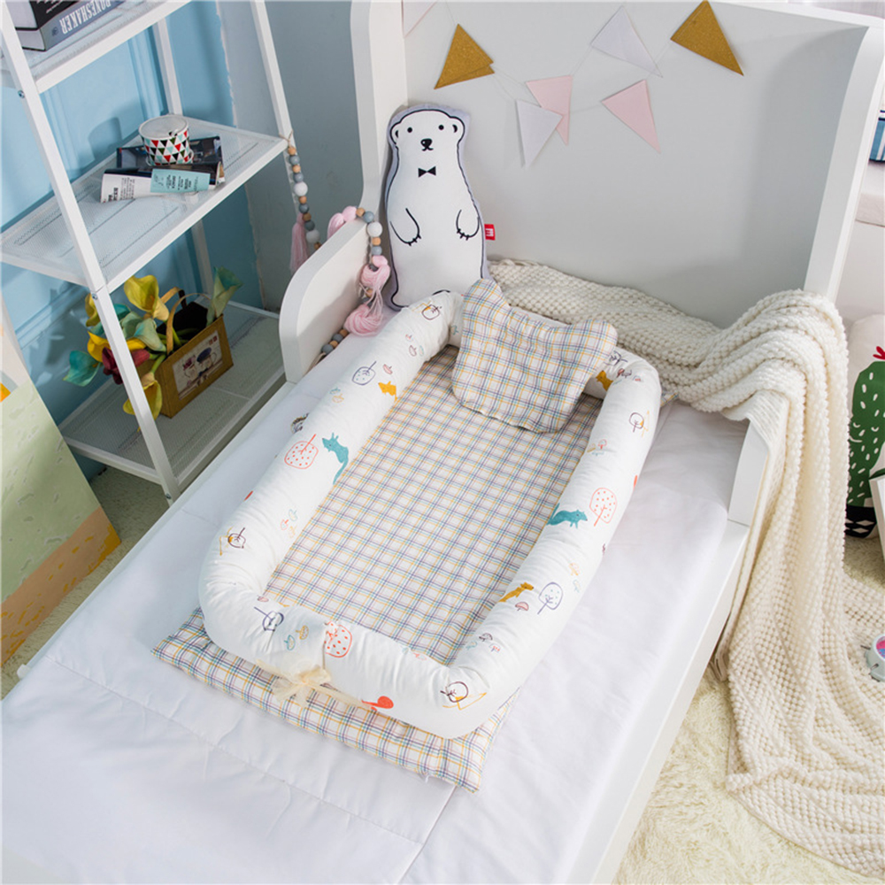 Portable Baby Crib Baby Nest Bed Cradle Cot Co-sleeping Bed 95*50*15cm(37*19*6in) Folding Bed For Baby Care