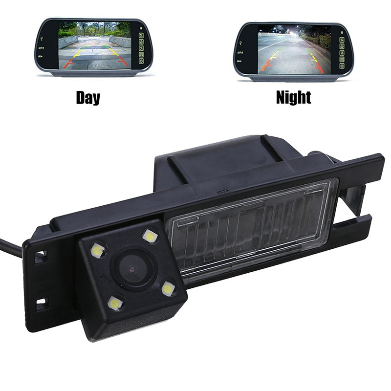 NTSC PAL 4LED Car Rear View Camera Waterproof 1/4inch Color CCD Cameras For Opel Astra H J Corsa Meriva Vectra Zafira Insignia