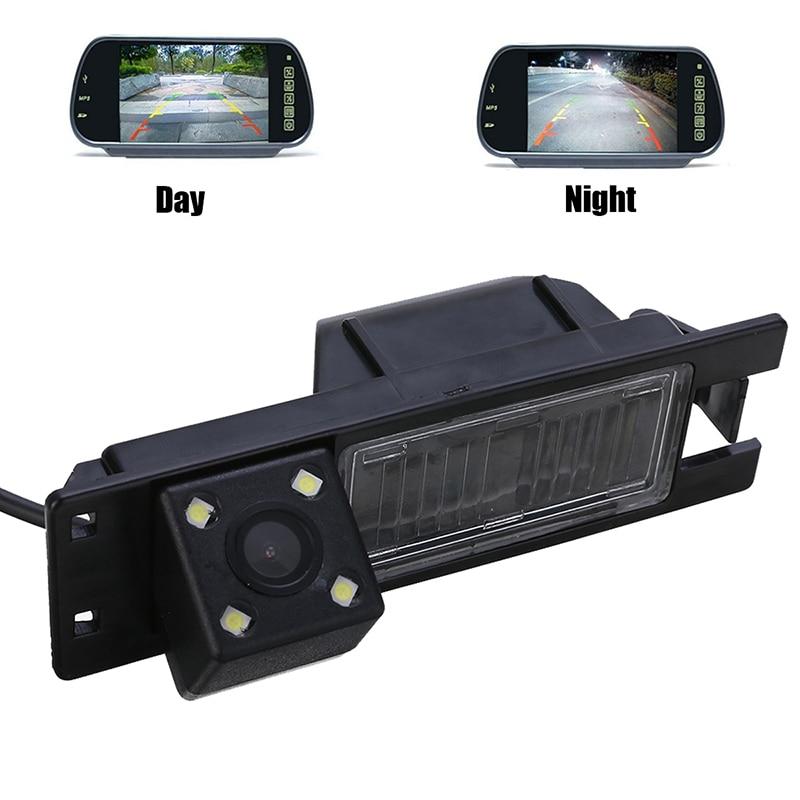NTSC PAL 4LED Car Rear View Camera Waterproof 1/4inch Color CCD Cameras For Opel Astra H J Corsa Meriva Vectra Zafira Insignia