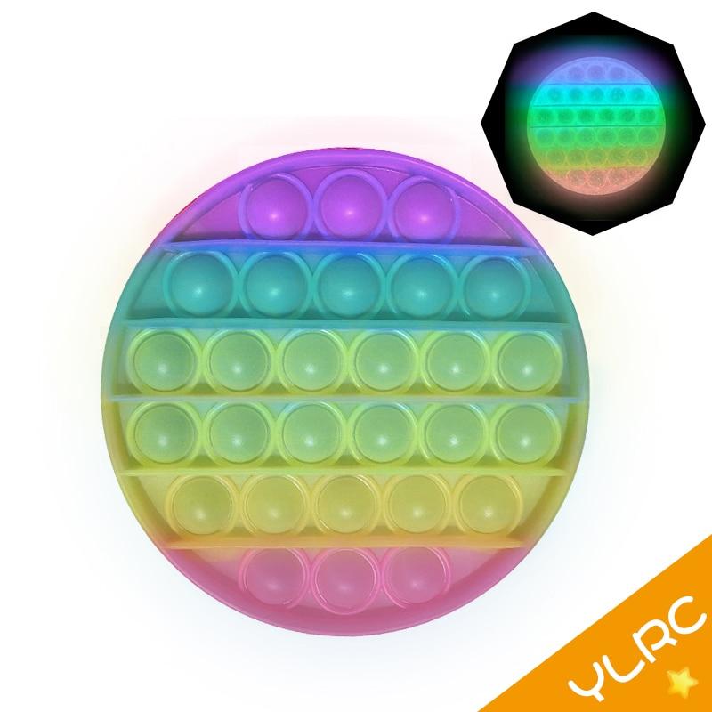 Новая светящаяся флуоресцентная пузырьковая игрушка-антистресс для взрослых, игрушка-антистресс, мягкий подарок, антистрессовая коробка, ...