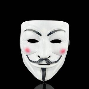 Image 3 - Anoniem Maskers Kostuums Vendetta Gezicht Fancy Party Cosplay Stijl Goud Volwassen Fawkes Levert Zilver Geel Guy Wit Halloween