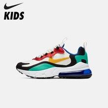 цена на NIKE AIR MAX 270 REACT(GS) Original Kids Shoes Air Cushion Children Running Shoes Comfortable Sports Sneakers #BQ0102-001