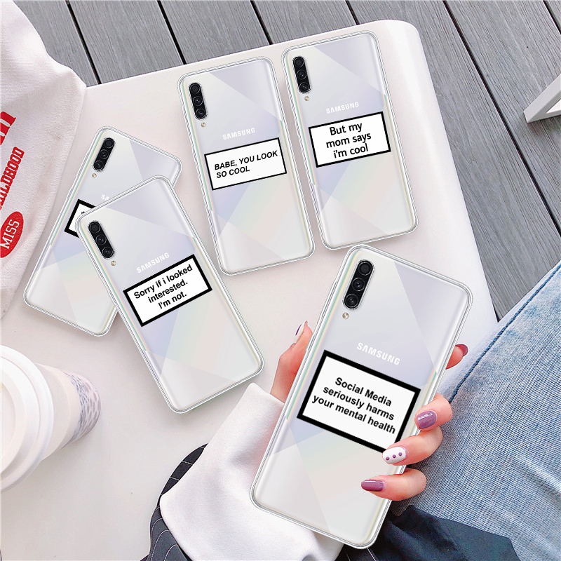 Phone Case For Cover Samsung A50 A51 A20 A30 A10 A70 A40 A60 A10S A20S A50S A30S Funny Letter Soft Silicone Cover
