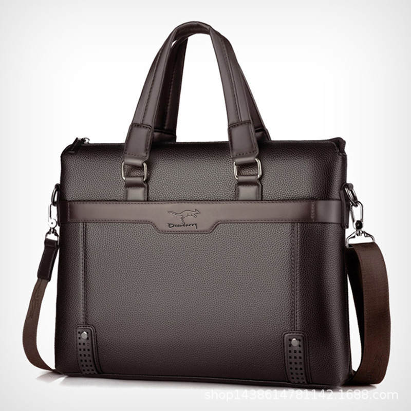 Men's Briefcase Handbags Totes Messenger-Bags Laptop Business Male High-Quality Brand
