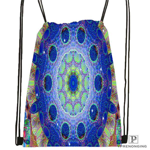 Custom Mandala-Buddhist-@5 Drawstring Backpack Bag For Man Woman Cute Daypack Kids Satchel (Black Back) 31x40cm#20180611-03-144