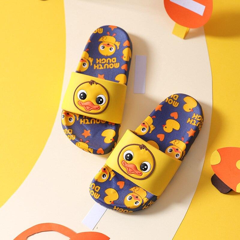 New Cute Duck Pattern Children's Slippers Kids Indoor Outdoor Boys Slippers Girls Home Non-slip Baby Slide Little Boy Girl Shoes