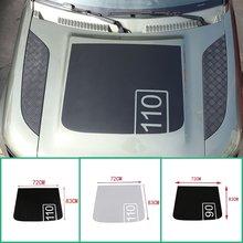 Autocollant graphique en vinyle pour capot avant, noir mat, pour Land Rover Defender 90 110 2020, 110
