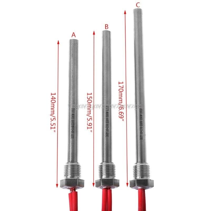 350W 220V Ignition Igniter Hot Rod Wood Pellet Stove 10*140/150/170mm M16*1.5 O15 19 Dropship