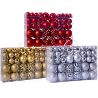 New 100 Pieces Christmas Decoration Ball Shatterproof Christmas Ball Home Party Tree Decorations Ornament Decor Accessories