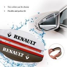 цена на Transparent Universal Car Sun Visor Car Rain Brow Car Rearview Mirror Cover Flexible PVC Rearview Mirror Rain Visor for renault