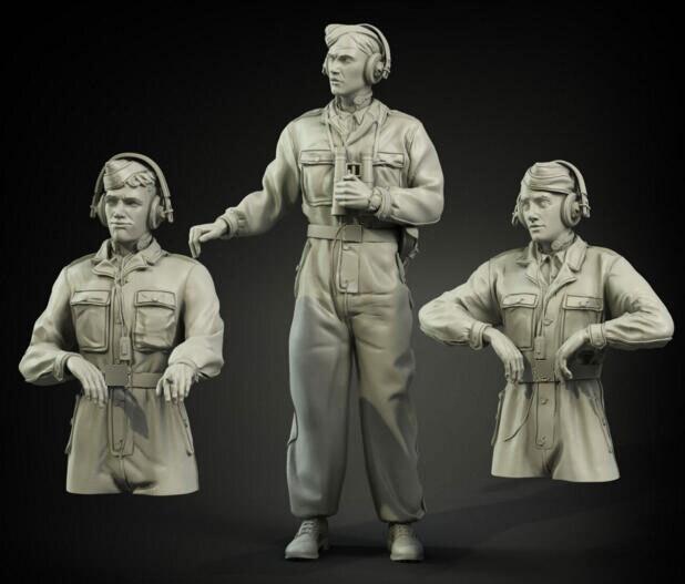1/35 Resin Figures German Soldiers Style V 3pcs/set Model Kit