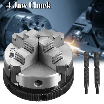 Chuck 4 Jaw Reversible Self-Centering Thread Mount Lathe Chuck for Woodworking HVR88