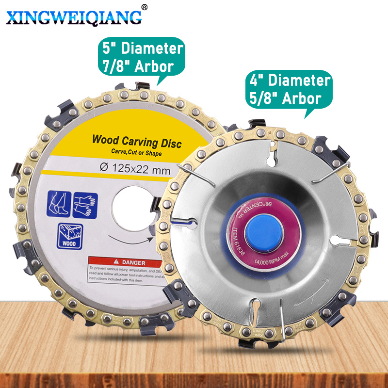 Wood Carving Disc Woodworking Chain Grinder Chain Saws Disc Chain Plate Tool For 125MM 115MM Angle Grinding 5 Inch 4 Inch