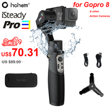 Hohem iSteady Pro 3 Splash Proof 3 Axis Handheld Gimble for DJI Osmo Action Gopro Hero 8/7/6/5/4/3 SJCAM YI Cam Action Cameras