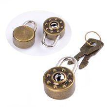 Mini Padlock Small Luggage Box Key Lock with Key Bag Suitcase Decor Accessories