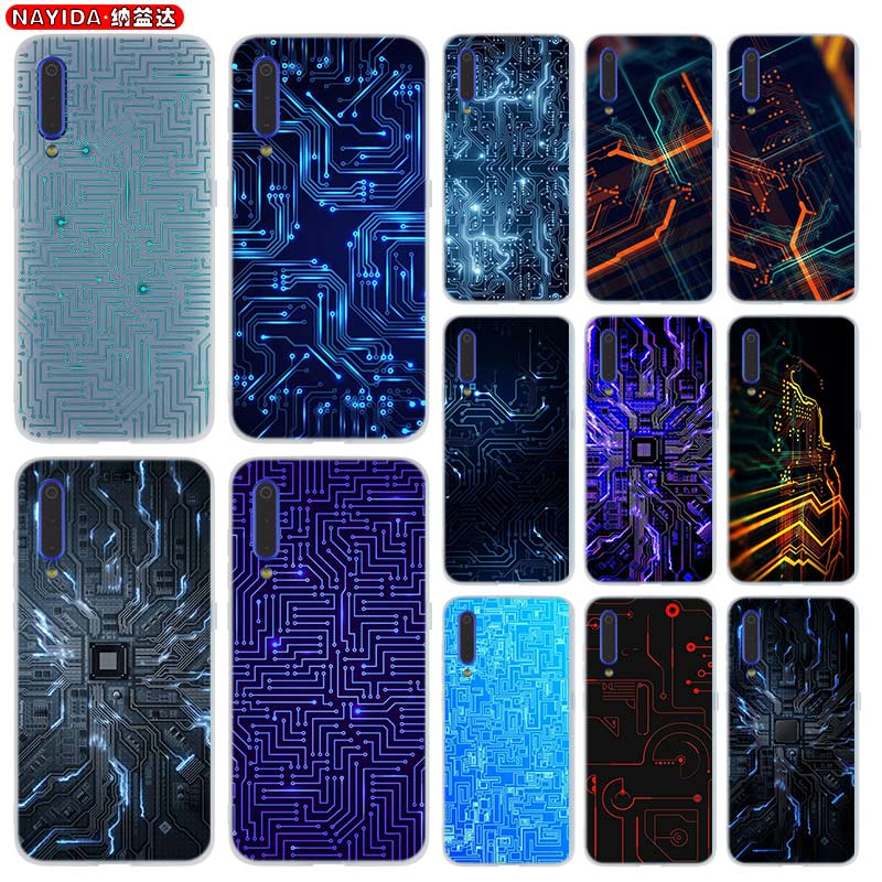 Phone Case For Xiaomi 9 <font><b>8</b></font> Mi A1 A2 A3 lite F1 6 5X se For Redmi <font><b>Note</b></font> <font><b>8</b></font> 7 6 Pro Cover Star Circuit <font><b>Board</b></font> image