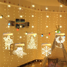 Fairy Garland LED Christmas String Lights Tree Bell Snowflake Luces Led Decoracion Indoor Outdoor Holiday light