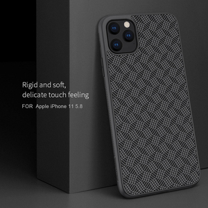 Image 1 - For iPhone 11 Pro Max Case NILLKIN plaid Synthetic Fiber Carbon PP Plastic Phone Case for iPhone 11 Pro 5.8/6.1/6.5 inch cover