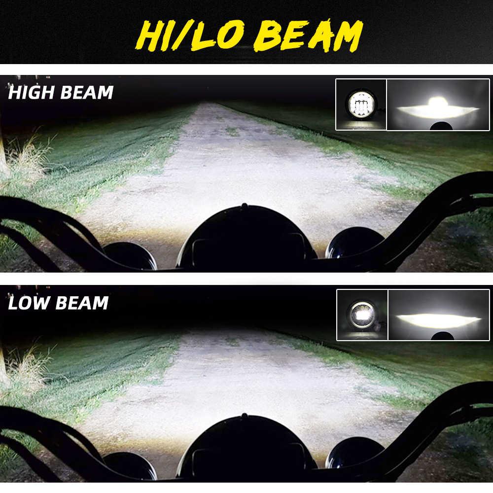 """CO светильник 7 дюймов светодиодный светильник на голову 180 Вт дальнего ближнего света E9 7 """"светодиодный DRL Halo Кольцо Янтарная Поворотная сигнальная фара для Lada 4x4 Niva Urban"""