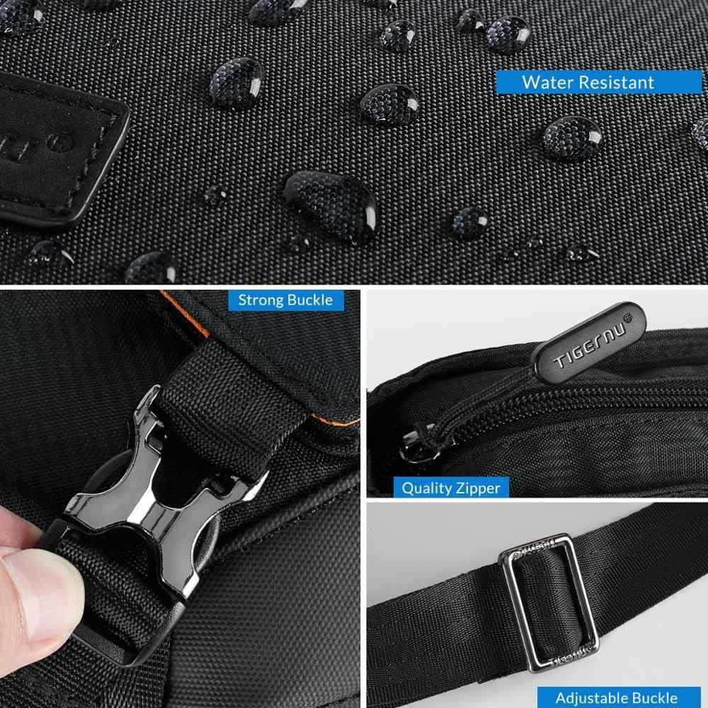 Tigernu 2020 nouveau Style de mode coréen hommes sac à bandoulière voyage sac de messager de haute qualité poitrine sac Anti-vol sac à bandoulière pour hommes