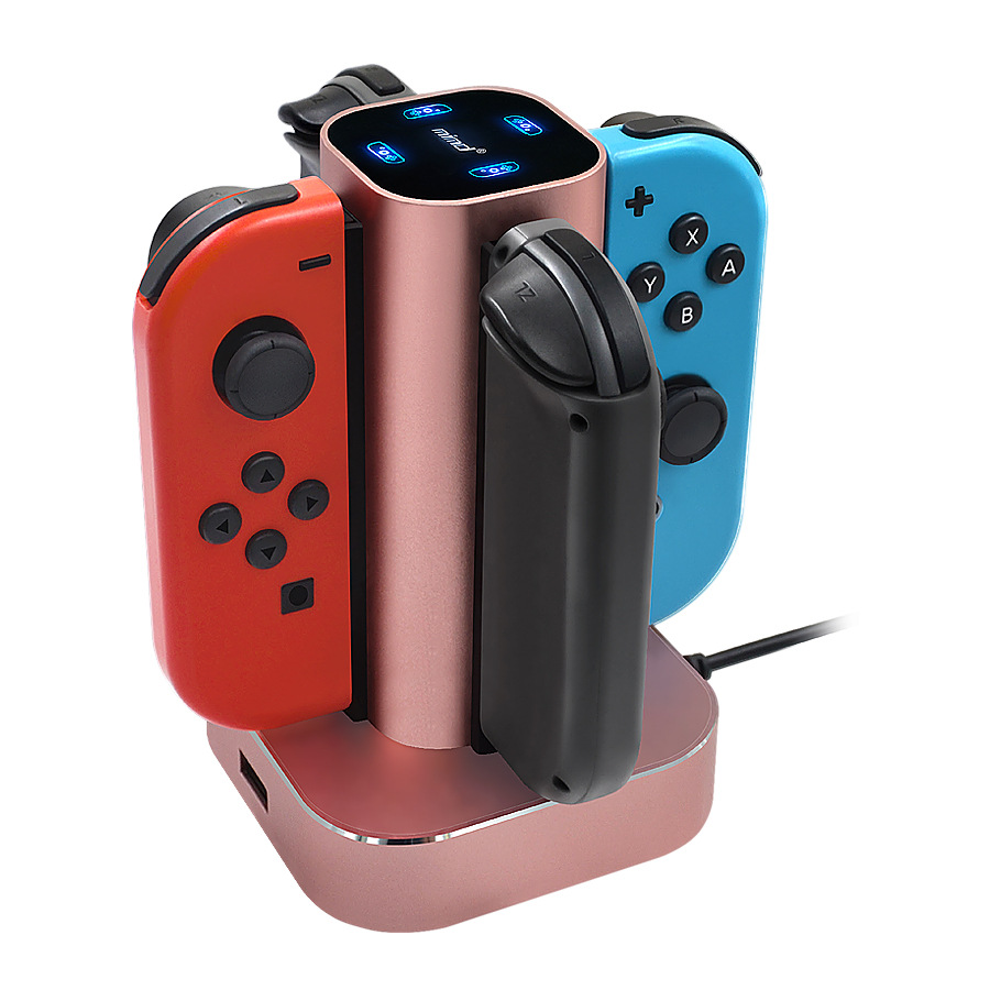 Exclusive Illicit Model MIMD Nintendo Switch Game Small Handle Aluminium Alloy Fixed Charger Switch Charging Set