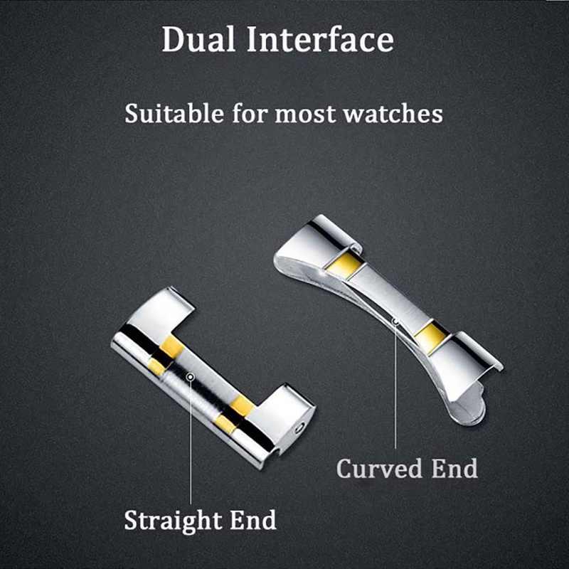 18mm 20mm 22mm szerokość zegarek na pasku ze stali nierdzewnej zespół Push Button bransoletka z zapięciem na rękę zegarek wymiana paska