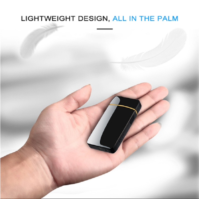 Electric Metal Lighters Windproof Dual Arc Plasma Rechargeable USB Lighter Disposable Smoking Cigarette Lighter For Men Gadgets 6