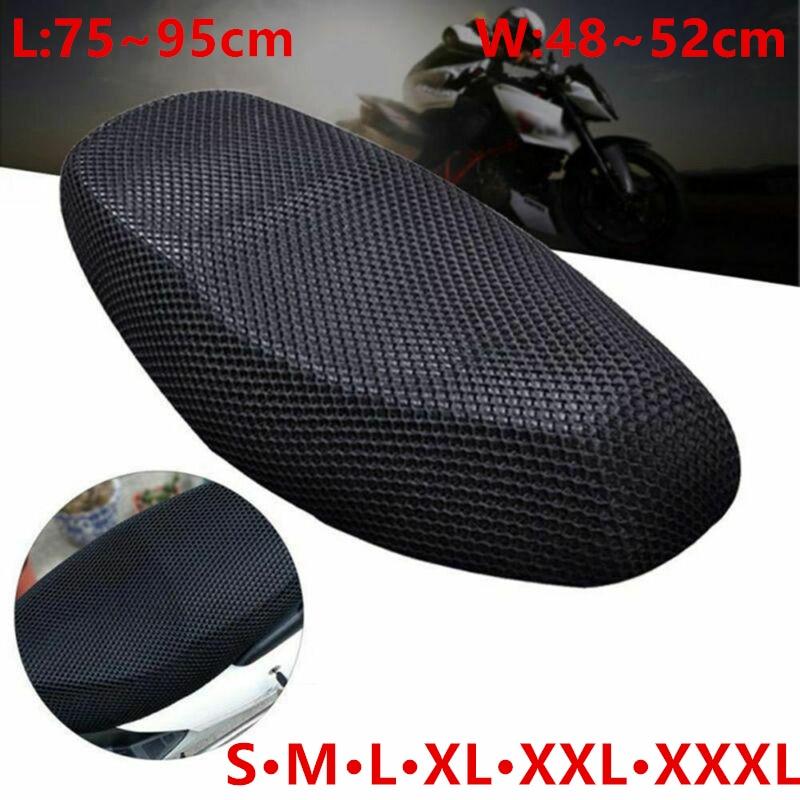 Motorcycle Seat Cushion Cover S/M/L/XL/XXL/XXXL Net 3D Mesh Protector Insulation Cushion Cover Electric Bike Universal(China)