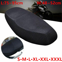 Motorcycle Seat Cushion Cover S/M/L/XL/XXL/XXXL Net 3D Mesh Protector Insulation Cushion Cover Electric Bike Universal