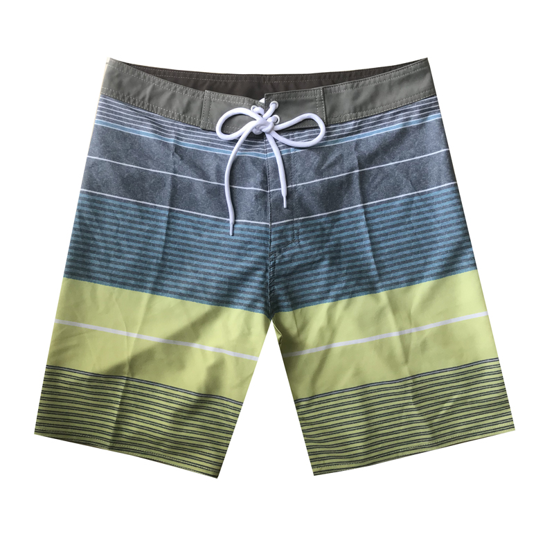 2019 New Arrival Mens   Board     Shorts   Summer Quick Dry Striped Swimwear Swimsuits Sport Beachwear Homme Bermuda   Shorts   Surf   Short