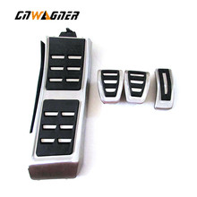Car Auto MT Gas Brake Foot Rest Pedal Pads For Audi A4 B8 A6 A7 A8 S4 RS4 A5 S5 RS5 8T Q5 SQ5 8R Car Aluminum Alloy Pedals xyivyg car foot rest fuel brake mt pedals for audi a 1 a3 a4 a4l a4 quattro a5 s4 s6 a7 a8l q5 for manual transmission models