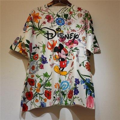 Disney summer lady cartoon mickey mouse T shirt women Short sleeve lovely Graffiti|T-Shirts| - AliExpress