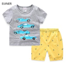 цена на Baby Clothing Sets Children 2 3 4 5 6 7 Years Birthday Suit Boys Tracksuits Kids  Clothes Brand Sport Suits  Top +Pants 2pcs Set