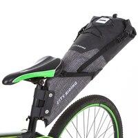 Sacos de ciclismo 12 14l bicicleta grande saco de sela ciclismo saco traseiro à prova dwaterproof água ciclismo traseiro pannier bicicleta cauda saco de armazenamento|Cestos e bolsas p/ bicicleta| |  -