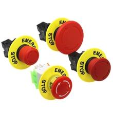 22 мм красный грибной головкой переключатель кнопки аварийного останова XB2 LAY37 NO/NC Кнопка сигнализации переключатель