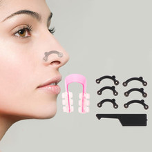 6 pçs/set beleza nariz up levantamento ponte shaper massagem ferramenta sem dor nariz moldar clipe clipper feminino menina massageador 3 tamanho