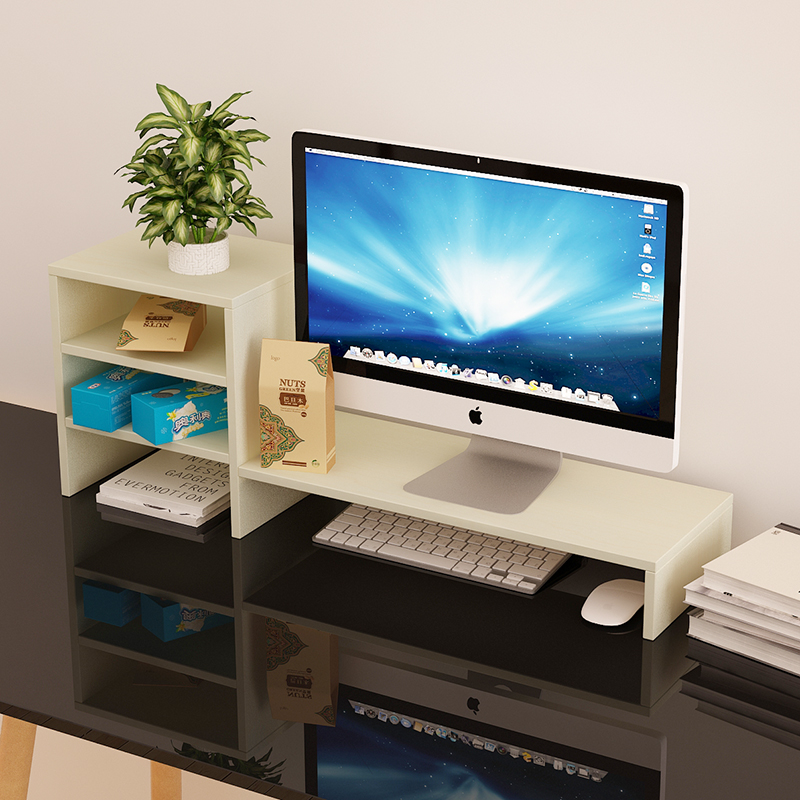 High Quality Computer Keyboard Shelf Monitor Desktop Storage Rack Raise  Base Screen