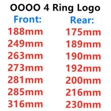 4 anel 3d abs prata ou preto capô do carro dianteiro grill tronco traseiro emblema logotipo adesivo para audi acessórios carro estilo