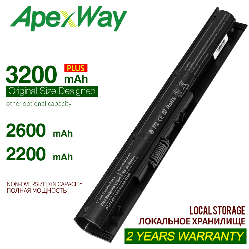 Apexway 14.8V חדש מחשב נייד סוללה VI04 VI04XL V104 V104 VI04 עבור HP Envy 14 15 17 ביתן 15 17 HSTNN-DB6I HSTNN-DB6K HSTNN-LB6K