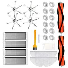 Filters Side/Main Brushes Accessory Kit for Xiaomi S50 S51 Sweeper Vacuum Cleaner Parts
