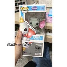 Funko pop brinquedos dumbo figura filme dos desenhos animados anime figuras de ação de vinil coleção modelo bonecas de vinil com caixa