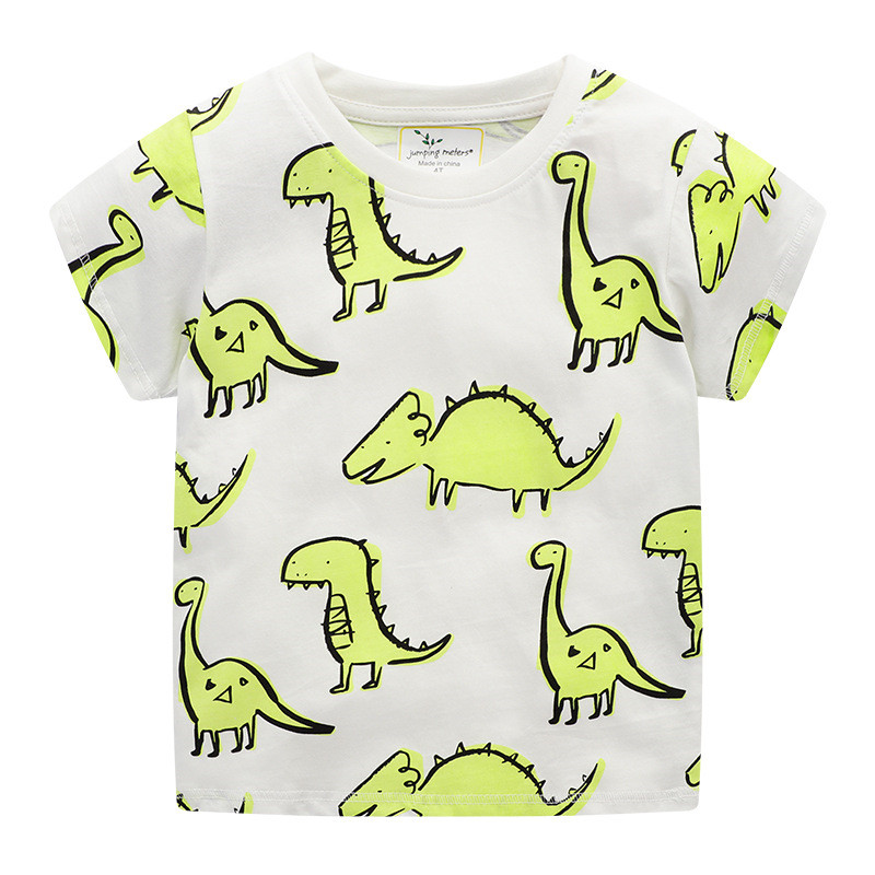 Jumping meters New Animals Tees Tops for Baby Boys Girls Summer Clothing 100% Cotton Kids T <font><b>shirts</b></font> <font><b>Dinosaurs</b></font> Tees Toddler Boys image