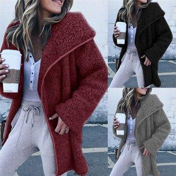 Winter Women's Thicken Fleece Fur Warm Winter Overcoat Long Coat Parka Jacket Outwears