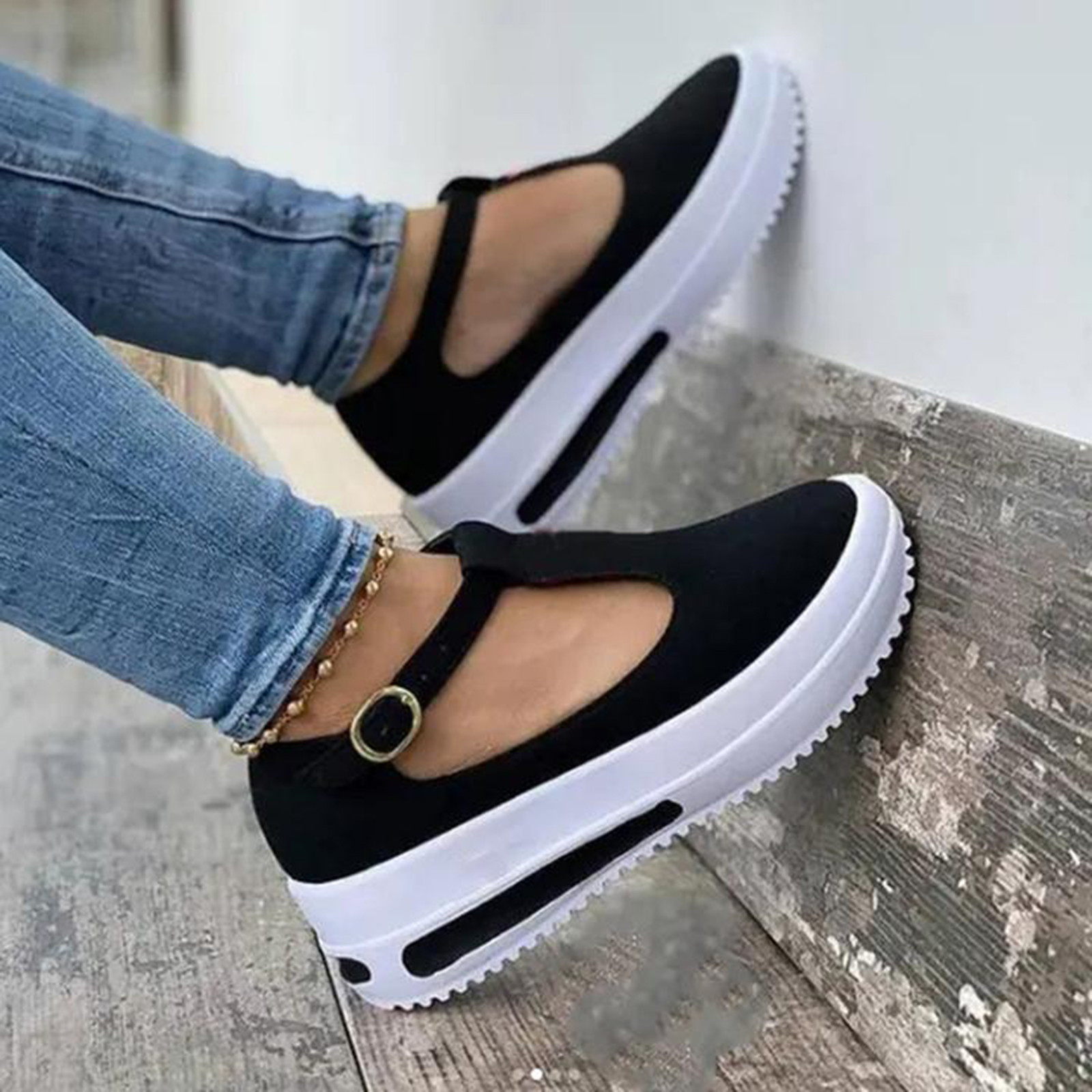 New Women Casual Sandals Ladies Wedge Platform Buckle Strap Sandals Woman Slippers Open Toes Fashion Party Female Shoes 2021